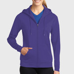 Ladies Sport Wick ® Fleece Full Zip Hooded Jacket