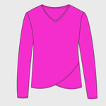 Women's Oasis Wash French Terry Criss Cross V-Neck Sweatshirt