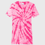 Ladies Tie Dye V Neck Tee
