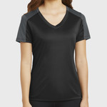 Ladies PosiCharge ® Competitor ™ Sleeve Blocked V Neck Tee