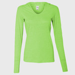 Women's Twisted Slub Jersey Hooded Pullover T-Shirt