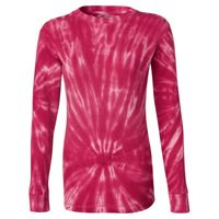 Women's Hannah Long Sleeve Tie-Dyed Thermal T-Shirt Thumbnail