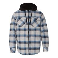 Quilted Flannel Full-Zip Hooded Jacket Thumbnail