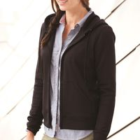 Poly Women's Hooded Full-Zip Sweatshirt Thumbnail