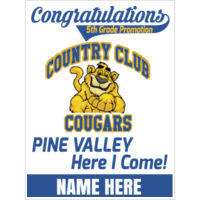 COUNTRY CLUB - 18x24 sign custom name Thumbnail