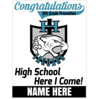 IRON HORSE / HIGH SCHOOL - 18x24 sign custom name Thumbnail