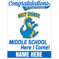 DISNEY / MIDDLE SCHOOL - 18x24 sign custom name  Thumbnail